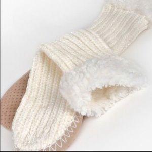 Last 1️⃣! Ivory Chenille Slipper Socks